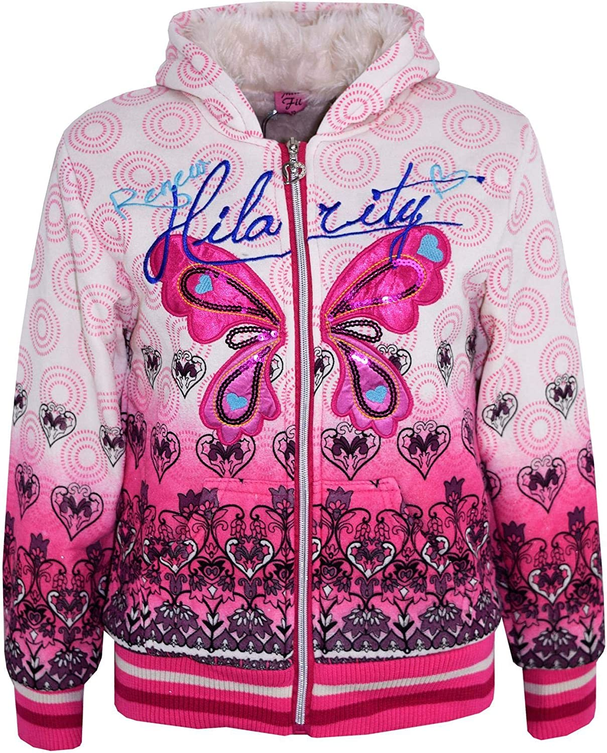Kids Girls Hoodie Designer Party Fashion Stylish Hooded Jumper Coats 7-13 Years