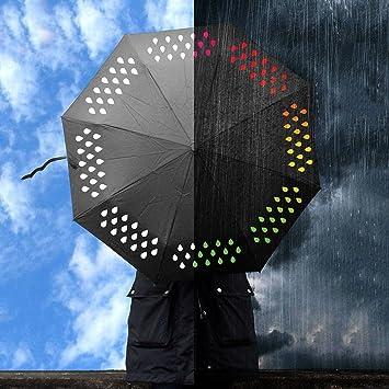 Cambia de Color paraguas, paraguas de viaje mamahome de arcoíris (3 colores, cambio