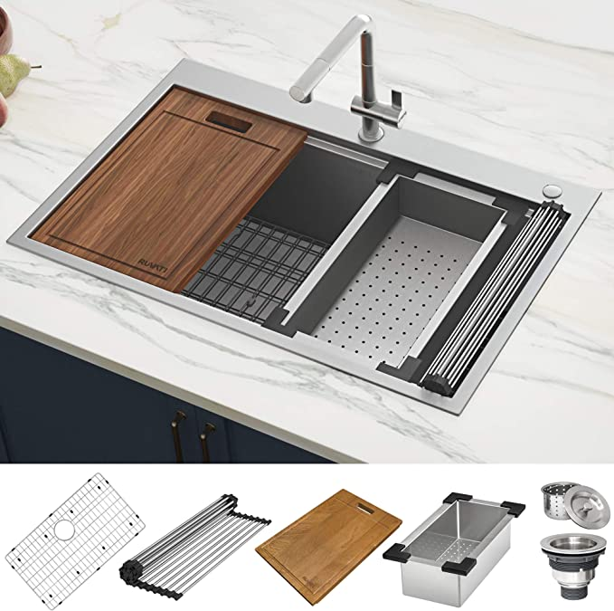Best Farmhouse Sink: Ruvati 33 x 22 inch RVH8003