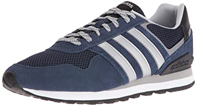 adidas Men's 10K Fashion Sneakers, Navy/Silver/Clear Onix, (11.5 M
