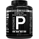 PROMIX Undenatured Grass Fed Whey Protein Isolate with Glutamine, Unflavored, 69 Servings - 5lb Bulk