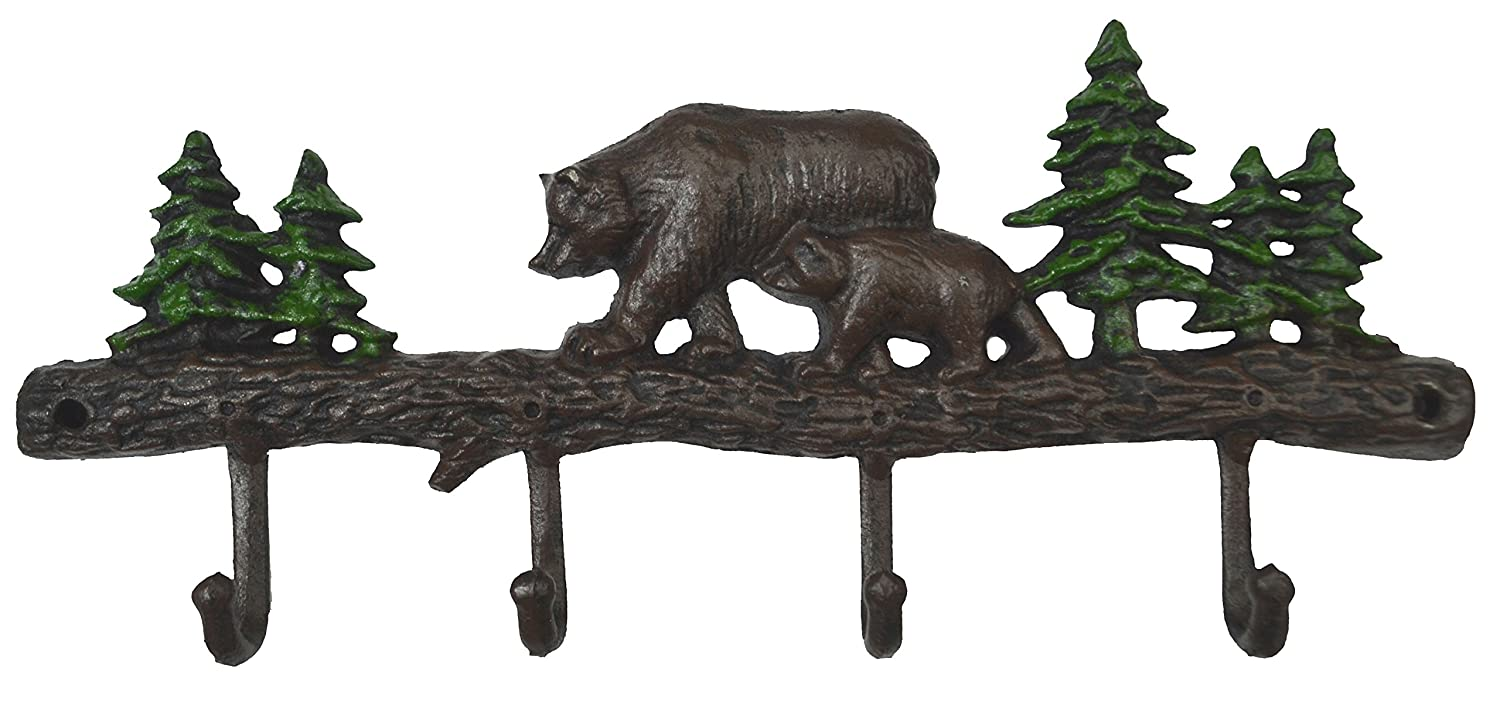 Lulu Decor, Cast Iron Bear Key Holder and Coat Hook (Bear Hook)