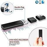 Mini USB Registratore Vocale Audio Spia Cimice 8GB / 94 ore, Voice Recorder compatibile con Smartphone, 26 ore durata della batteria