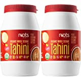 Roots Circle Organic Whole Sesame Tahini | 100% Pure Raw Sesame Seed Paste Butter for Hummus, Salad Dressing, Dips, Sauces &