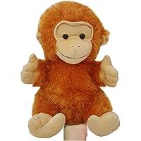 Amardeep and Co Stuffed Monkey Hand Puppet, 29 x 21 x 20 cm (Brown)