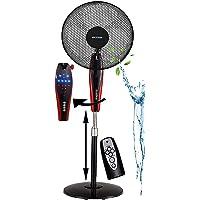 Standventilator 50 Watt Ø 41 cm | Fernbedienung | Timer | LED Display | Nachtmodus | Oszillierender Ventilator | Bodenventilator | Fan | Höhenverstellbar | Nachtlicht | 3 Stufen |