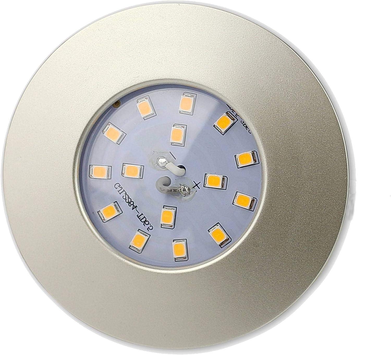 FARETTO DA INCASSO A LED Panel Argento Rotondo /ø 22/cm 18/Watt bianco neutro