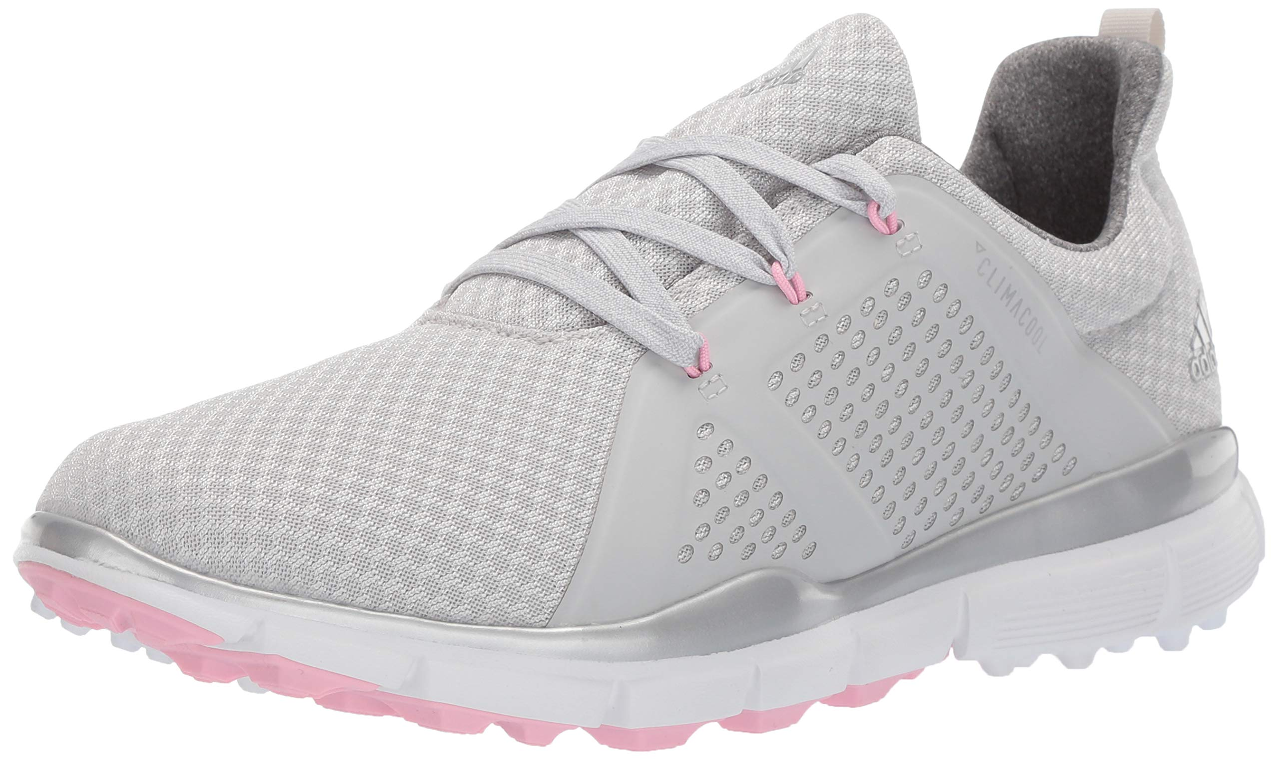 adidas Womens Climacool CAGE Golf Shoe, Grey one/Silver Metallic/True Pink, 8.5 M US by adidas