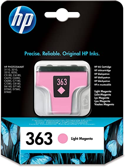 HP 363 - Cartucho de tinta original, color magenta claro: Hp ...
