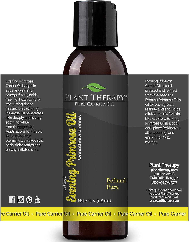 Onagra aceite del portador de 4 oz para la aromaterapia o masaje de aceites esenciales: Amazon.es: Salud y cuidado personal