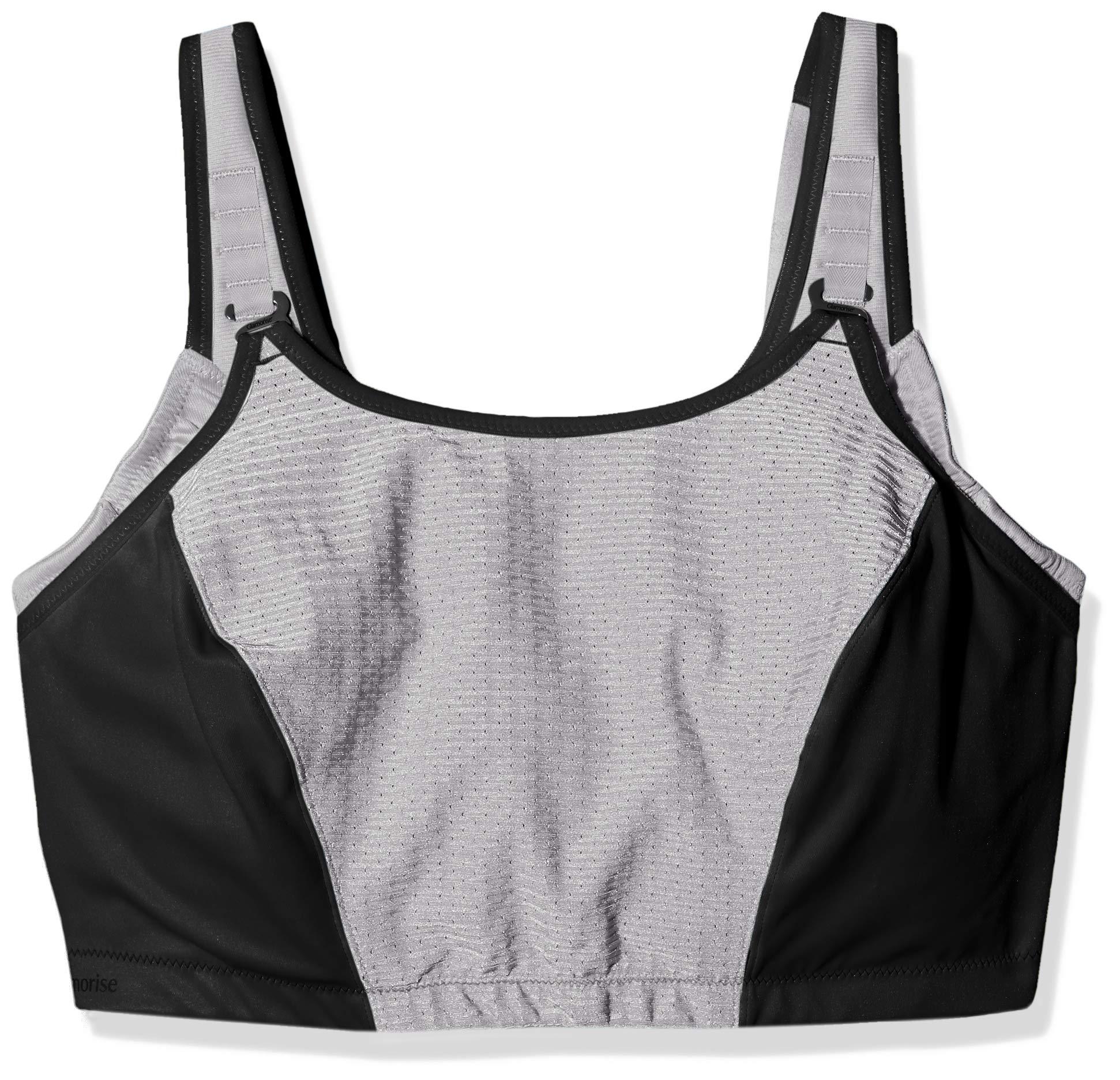 Glamorise Women's Plus Size Full Figure Adjustable Wirefree Sport Bra #1196, BLK, 38I by Glamorise