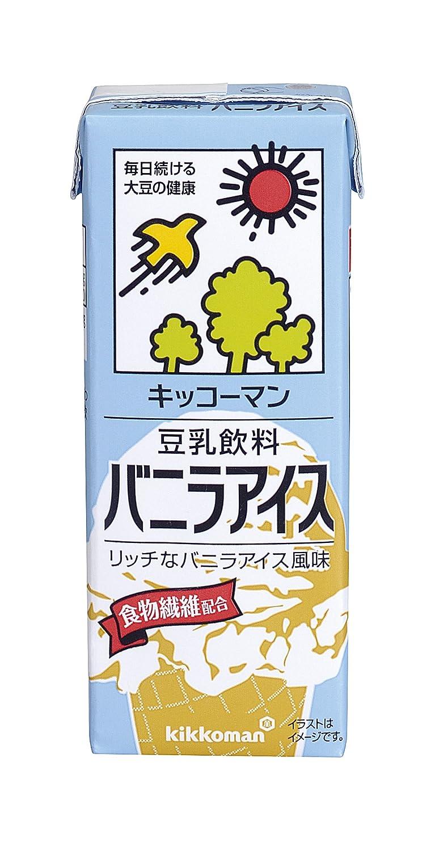 キッコーマンの豆乳飲料シリーズでカロリーが高い方に分類されるバニラアイス味