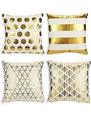 Juvale - Fundas de almohada decorativas para sofá, para niñas y mujeres, modernas fundas de cojín para decoración del hogar, 43 x 43 cm