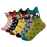 Amazon Price History for:Women's Lady's Cute Owl Design Cotton Socks,5 Pairs