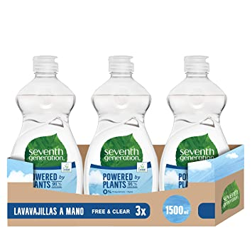 Seventh Generation Free & Clear - Liquido Lavaplatos, 3 ...