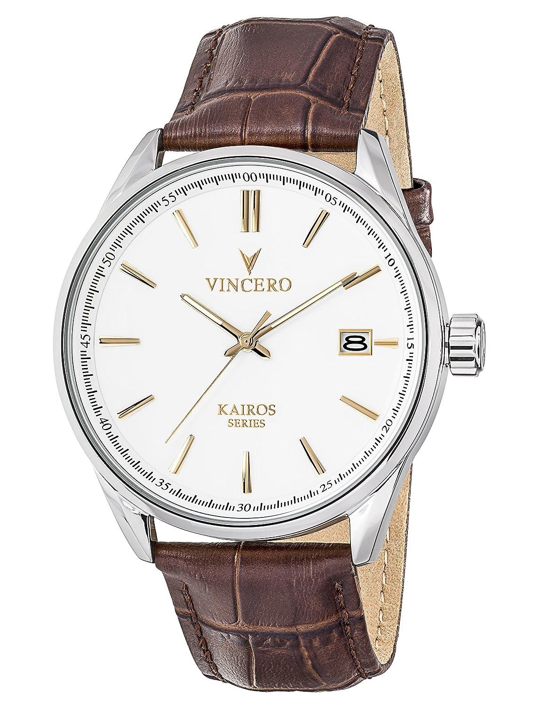 KAIROS Serie weiß Uhr mit Marmor CaseBack