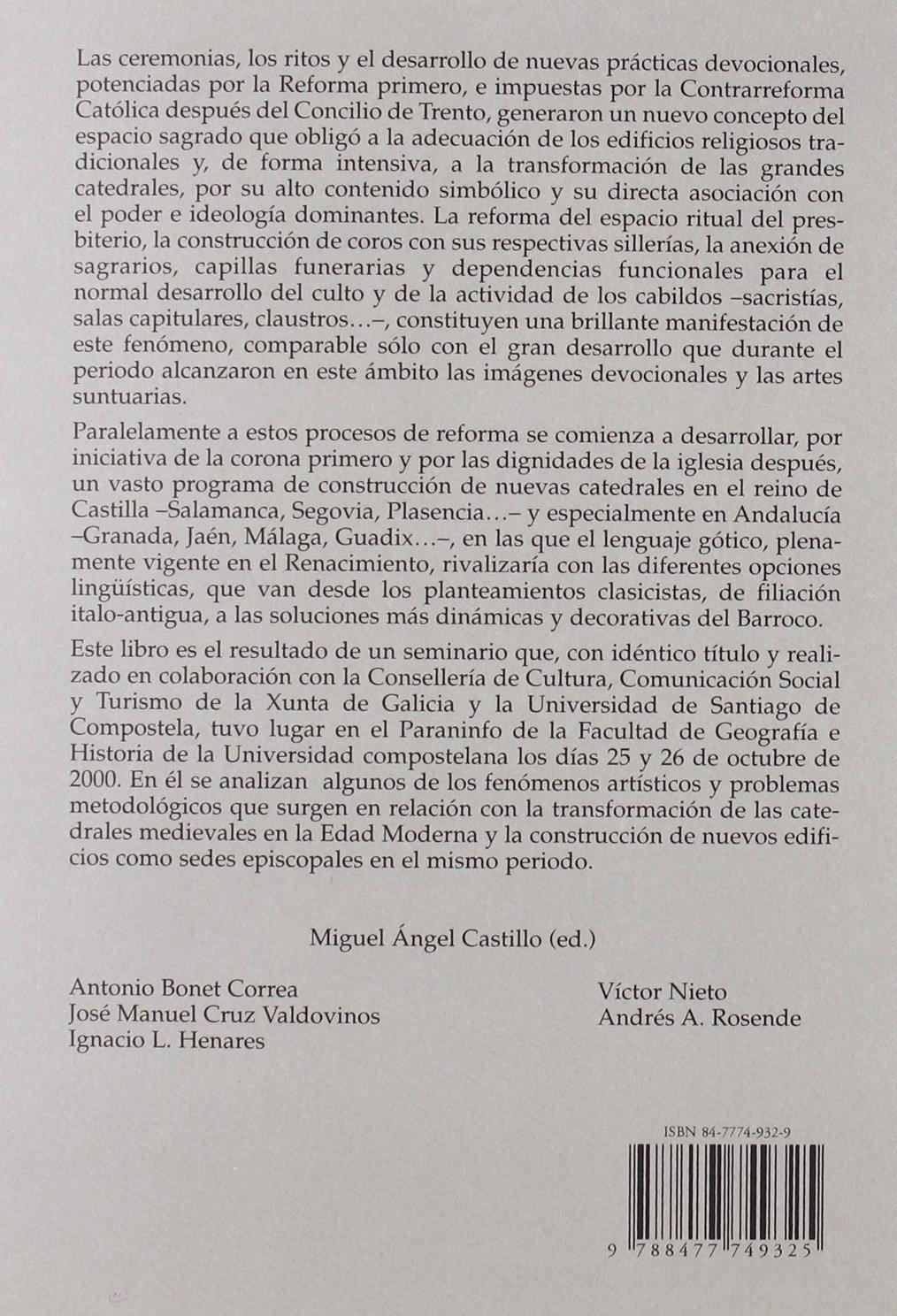 Las Catedrales Espanolas en la Edad Moderna: 9788477749325: Amazon.com: Books