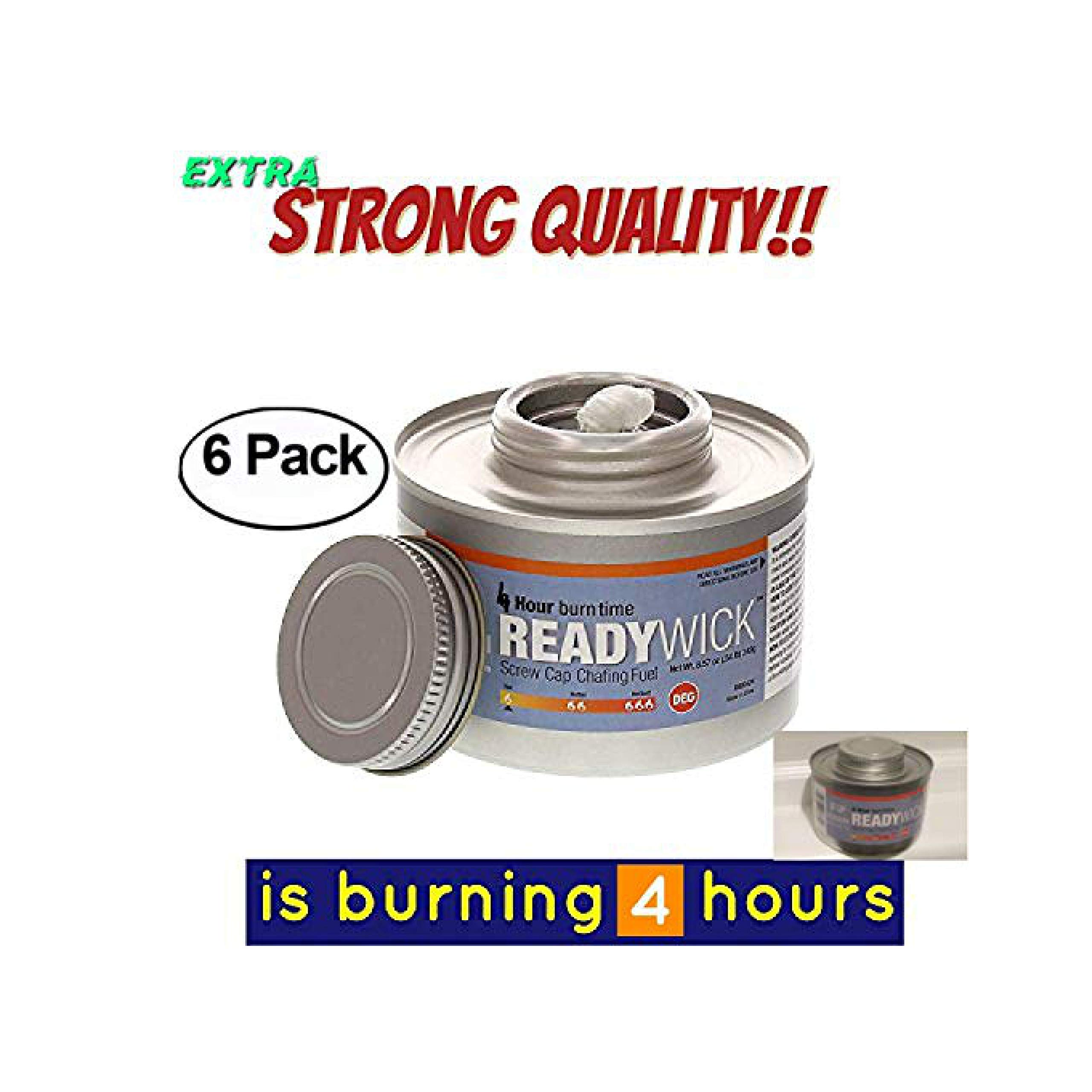 chafing fuel 4 hour,Chafing Gel Dish Fuel 6 Cans, Entertainment Cooking Fuel gel fuel cans, 4 hours cooking fuel cans, cooking fuel gel (6, 4 Hour) by The Bakers Pantry
