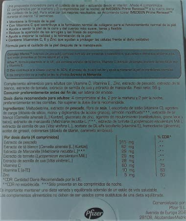 Amazon.com: Imedeen Prime Renewal 360 caps (3x120caps) - Spanish Box: Health & Personal Care