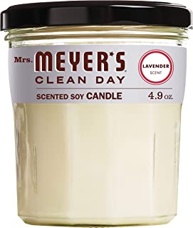 product image for Mrs. Meyer's Clean Day Scented Soy Aromatherapy Candle, 35 Hour Burn Time, Made with Soy Wax, Lavender, 4.9 oz