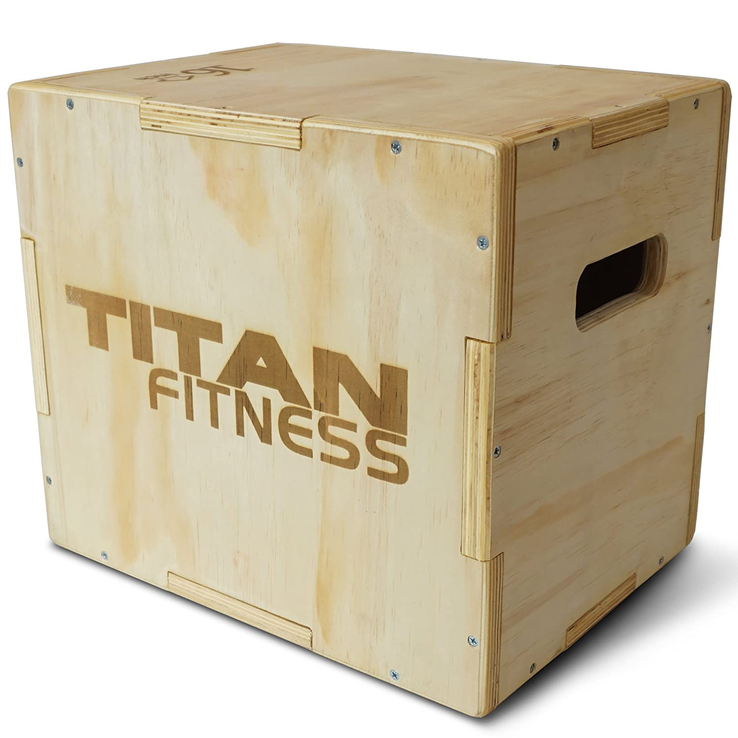 Titan Fitness 12 14 16 Wood Plyometric Box HD Plyo Box Jump Exercise Training