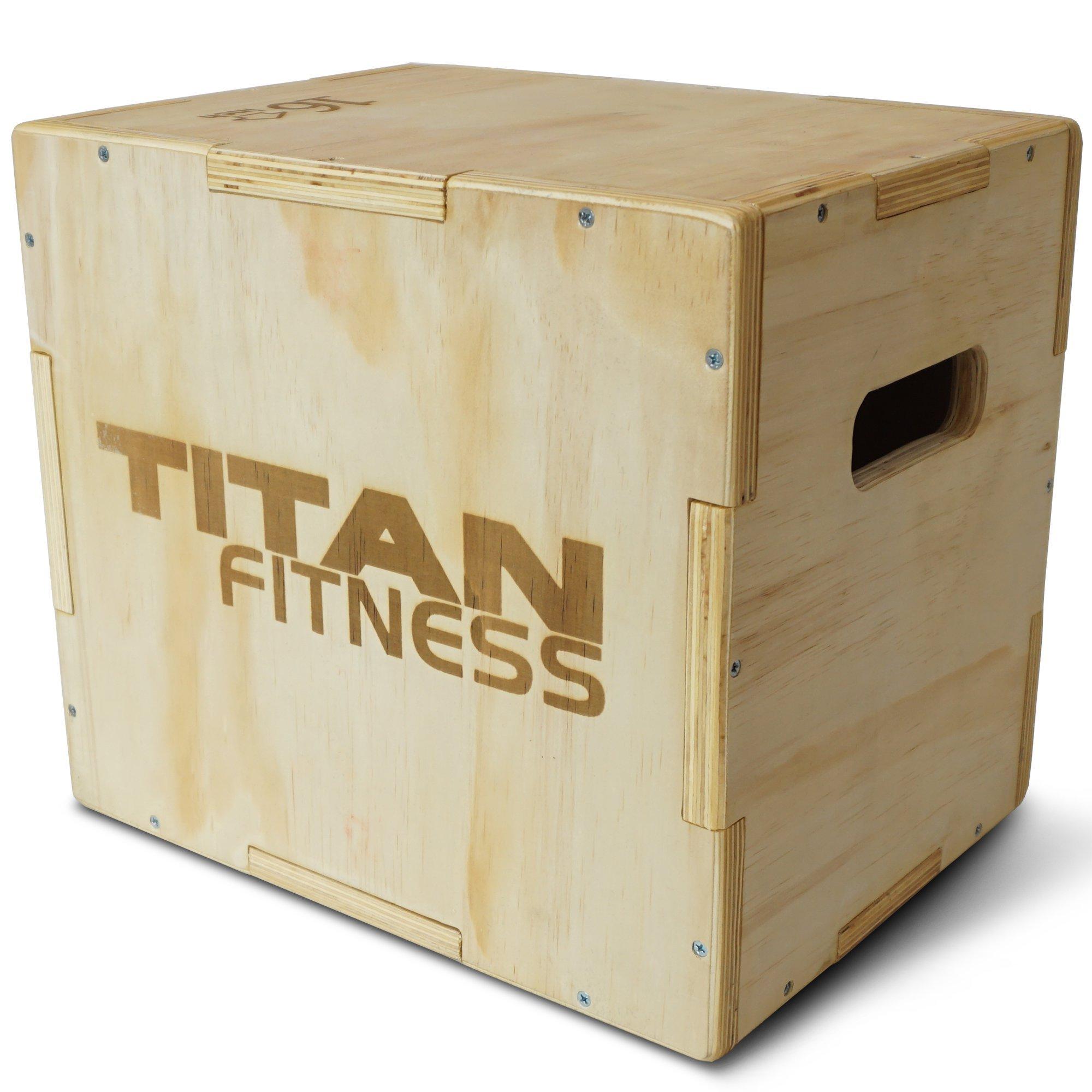 Titan Fitness 12'' 14'' 16'' Wood Plyometric Box HD Plyo Box Jump Exercise Training