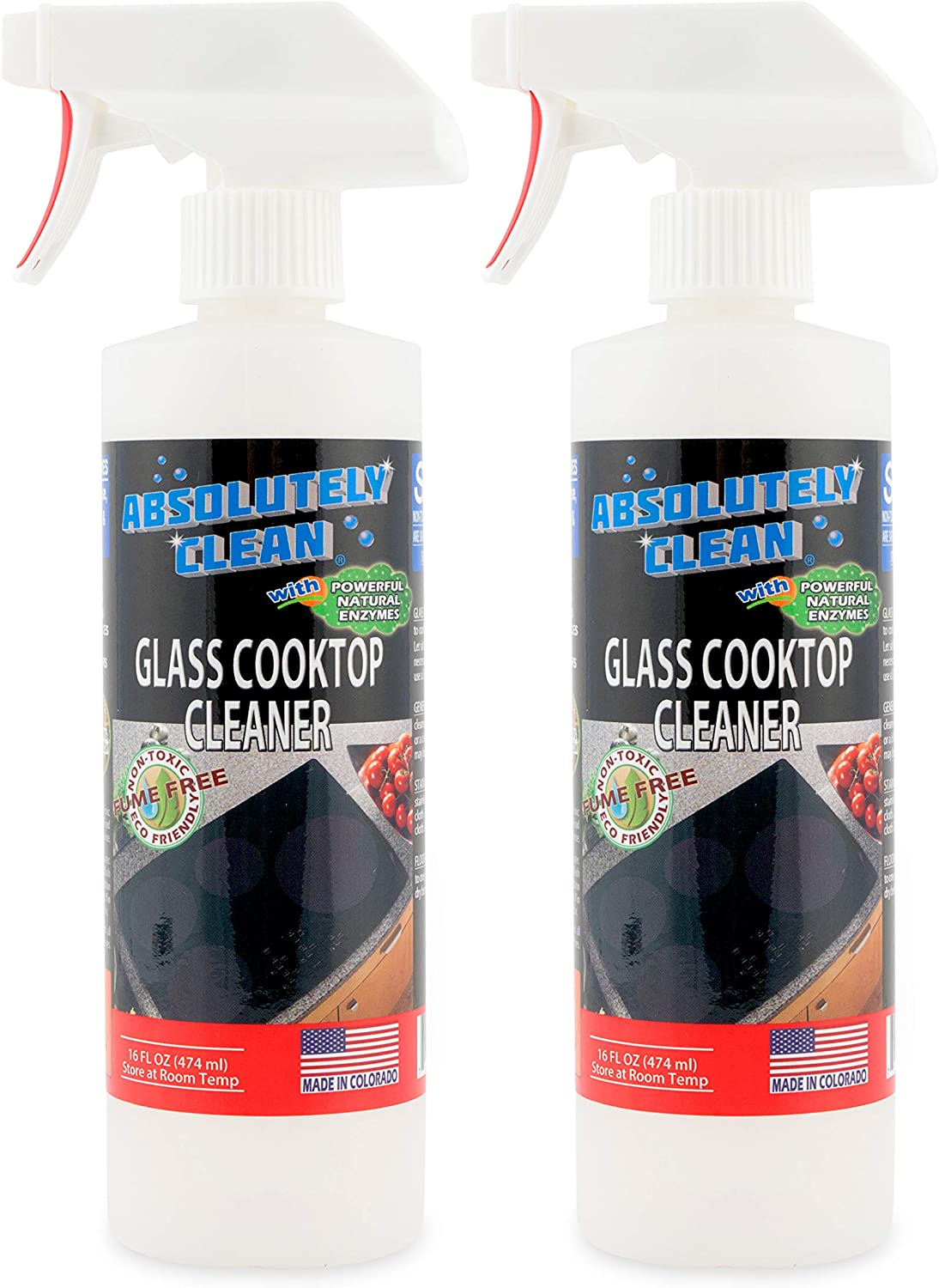 Amazing Ceramic & Glasstop Stove Cleaner - Fume Free & Scratch Free - Streakfree - Non-Toxic - Kid & Pet Friendly - USA Made