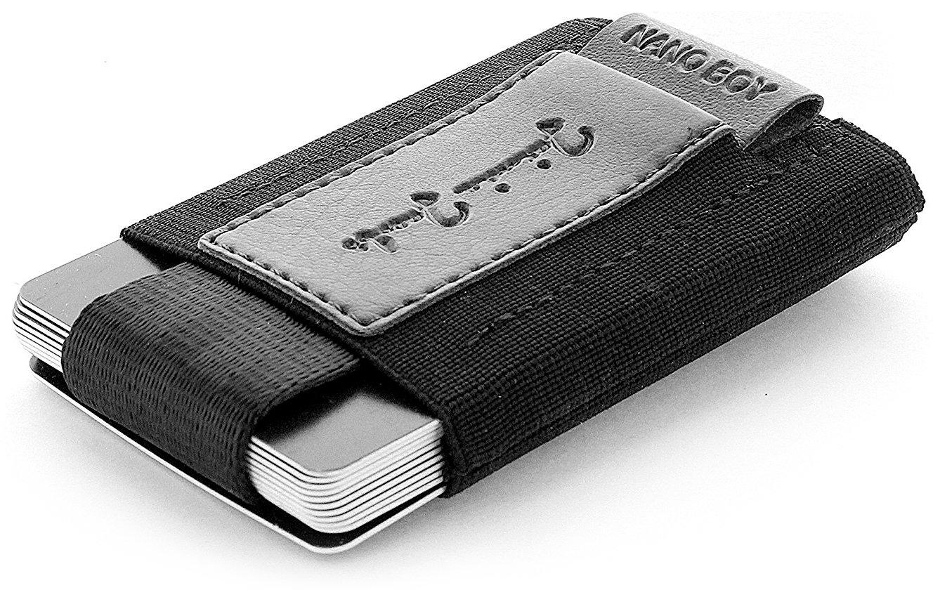 JAIMIE JACOBS Nano Boy Vegan Mini Geldbörse aus Textil Veganer Mini Wallet, Kleiner Veganer Geldbeutel, Mini-Portemonnaie für Herren