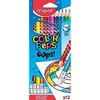 Lápis de Cor Sextavado Apagável, Maped, Color Peps, 12 Cores