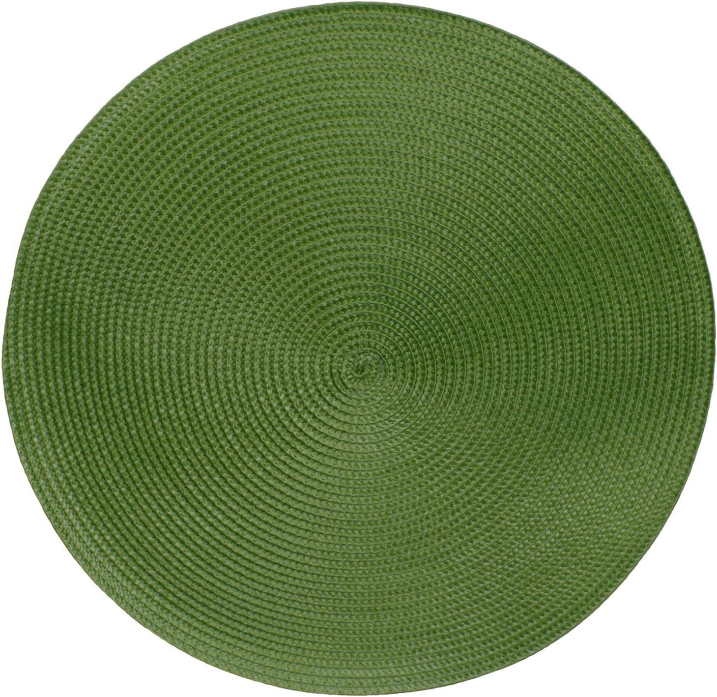 Fibres synth/étiques Sets de table -/Serie Marrakech vert diff/érentes tailles et couleurs Lot de 4 /Ø 38 cm