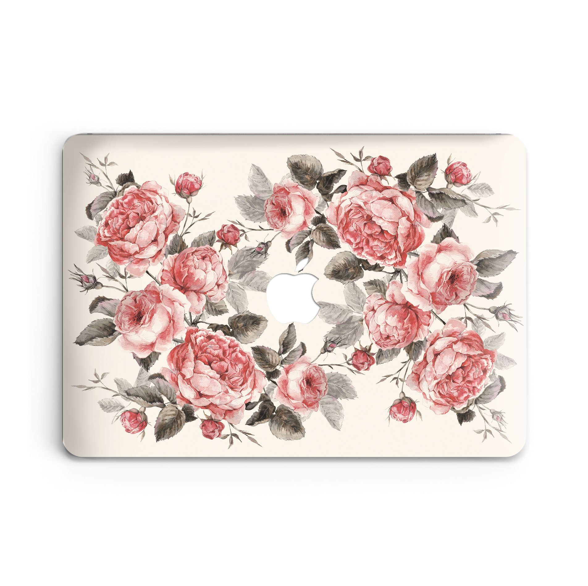 GoodMoodCases Plastic Hard Case Cover for MacBook 12-inch 2015-2016 (A1534 & MLHC2) with Retina Display - Pink Roses