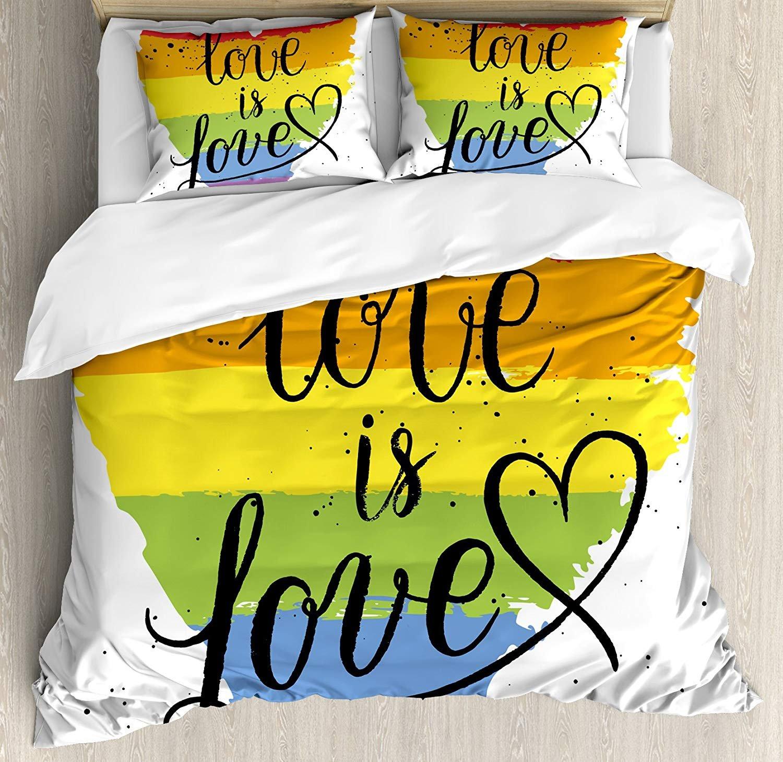 布団カバー4点セット Prideations LGBT ゲイ レズビアン パレード ラブ バレンタイン インスパイアリング 寝具セット 高級ベッドカバー (フラットシーツ キルト 子供 大人 ティーン 子供用 枕カバー2枚) Full/M fxqchicd181127SJT-ABSCJ-73SYCQ3S-full B07KWYVHK2 Abscj-73sycq3s Full/M