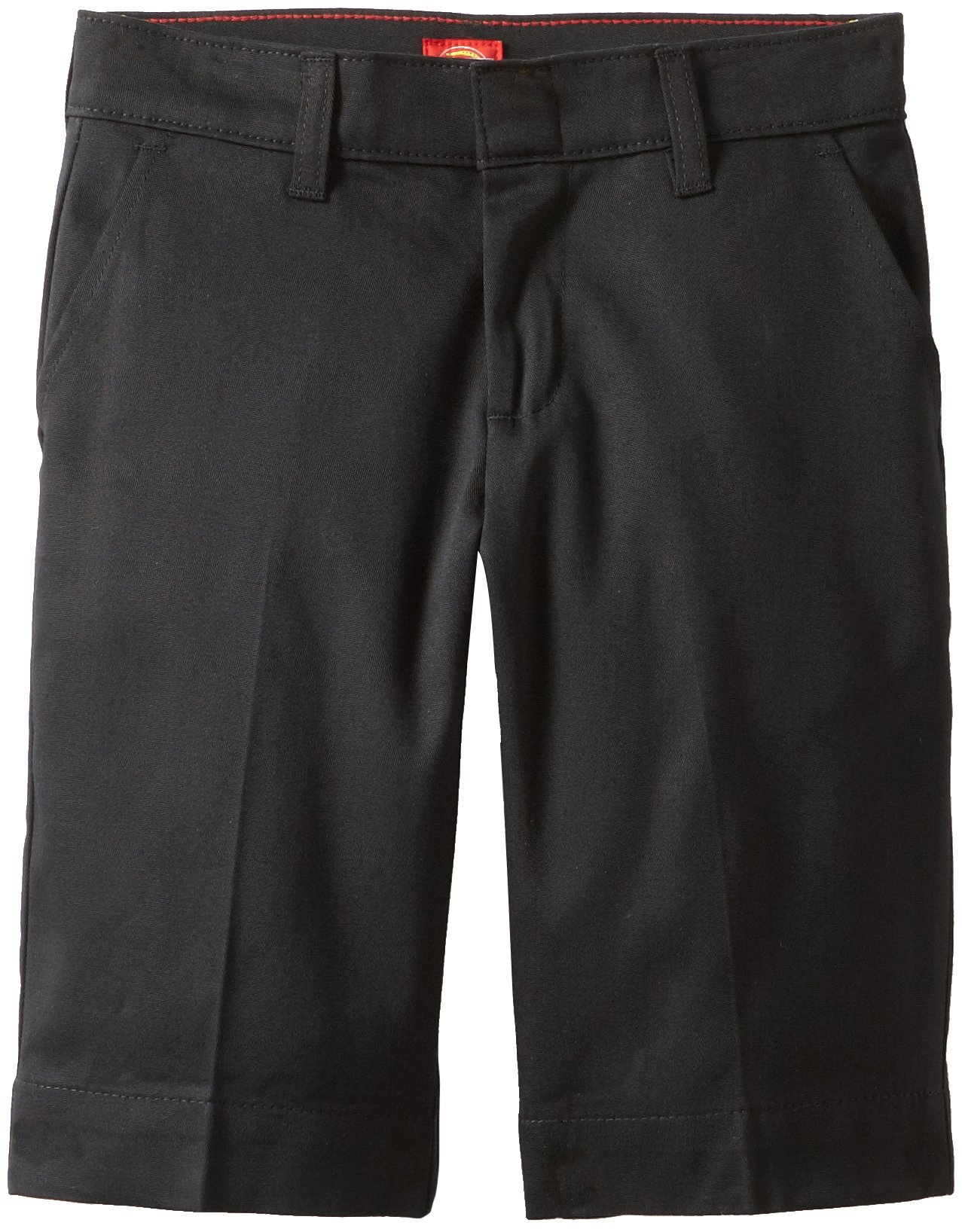 Dickies Big Girls' Stretch Bermuda Short, Black, 16