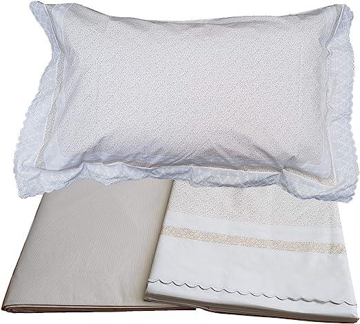 Gabel - Juego de sábanas Completo 17978 de percal de algodón de 80 ...