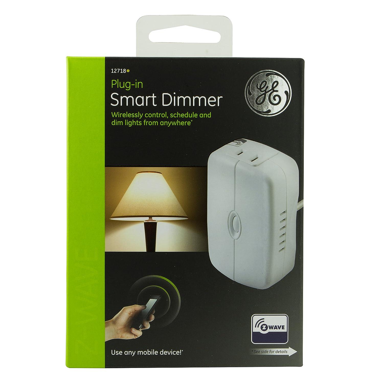ge wave wireless. GE Z-Wave Wireless Smart Lighting Control Lamp Module, Dimmer, Plug-In, White, Works With Amazon Alexa, 12718 - Amazon.com Ge Wave I