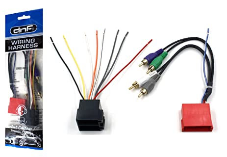 amazon com dnf wiring harness for aftermarket stereos and radios rh amazon com