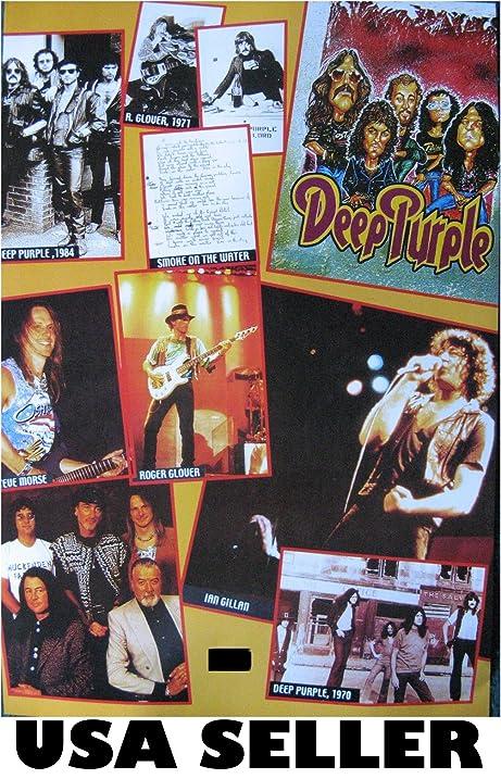 Amazon Deep Purple Scrapbook Collage Poster 145 X 21
