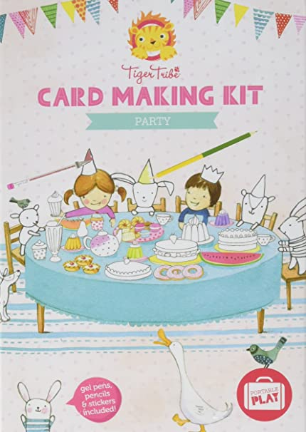 Amazon Com Tiger Tribe Card Making Party Kit Arts And Crafts Kit