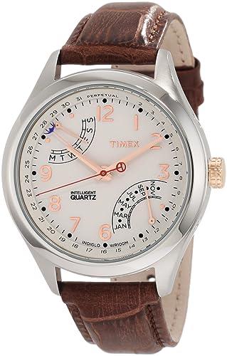 Timex T2N504DH - Reloj de Pulsera Mujer Hombre, Color Marrón: Amazon.es: Relojes