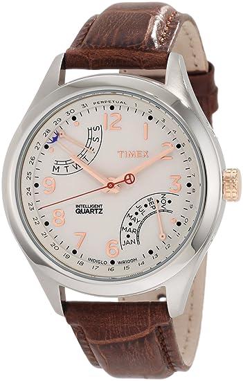 Timex T2N504DH - Reloj de pulsera Mujer hombre, color Marrón