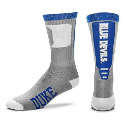b735b31c876c2 For Bare Feet NCAA Mens Cool Grey Jump Key Crew Socks