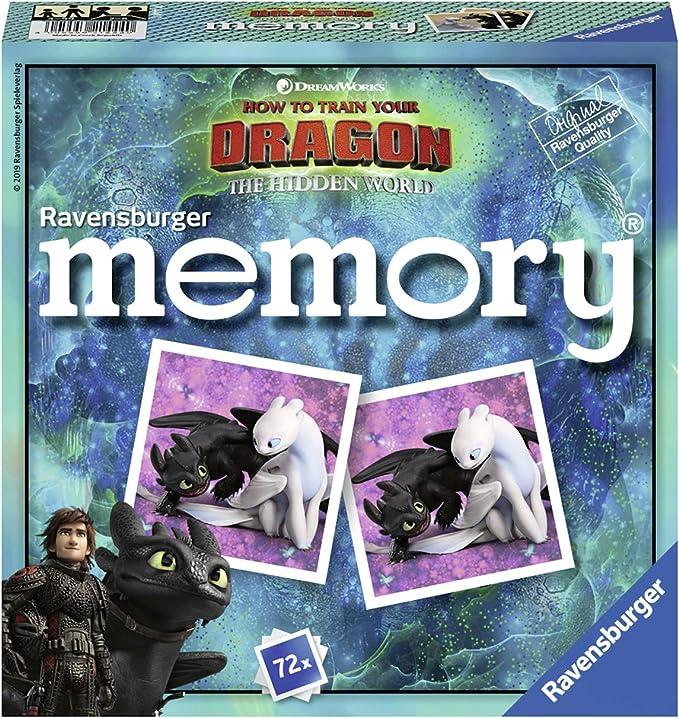 Ravensburger Kinderspiele 21444 Memory Zum Neuen Kinofilm Drachenzahmen Leicht Gemacht 3 Die Geheime Welt Amazon De Spielzeug
