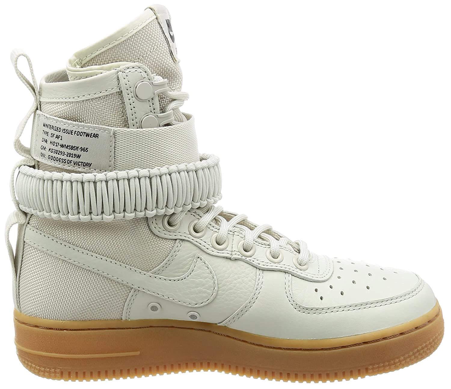 NIKE Women's SF AF1 Casual Shoe B0763R5GSY 9.5 B(M) US|Light/Bone/Light/Bone