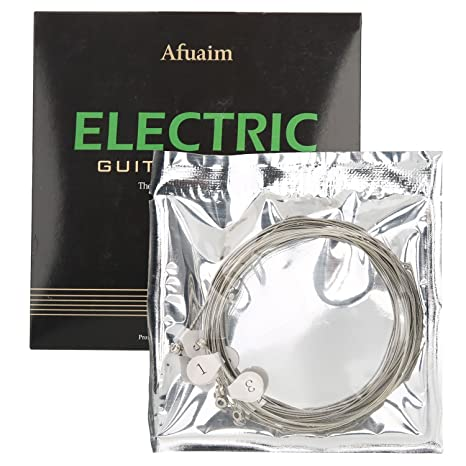 Afuaim Cuerdas Guitarra Eléctrica AE1046 Juego de Cuerdas de Níquel Entorchado,Light.010-