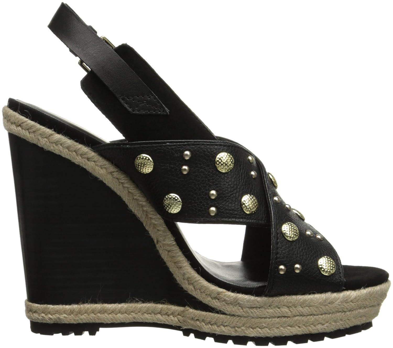 Rebecca Minkoff Women's Kimiko Stud Wedge Sandal B00TOTLA2U 9.5 B(M) US|Black