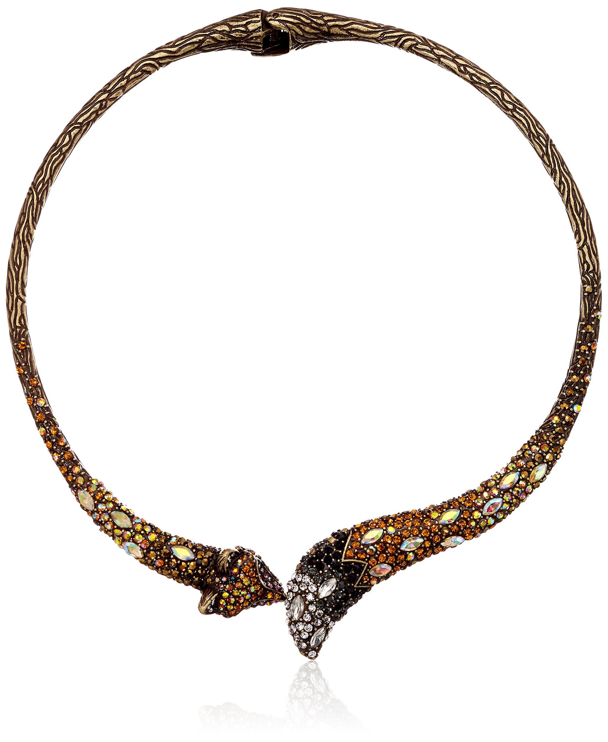 Betsey Johnson Surreal Forest Fox Hinge Collar Necklace
