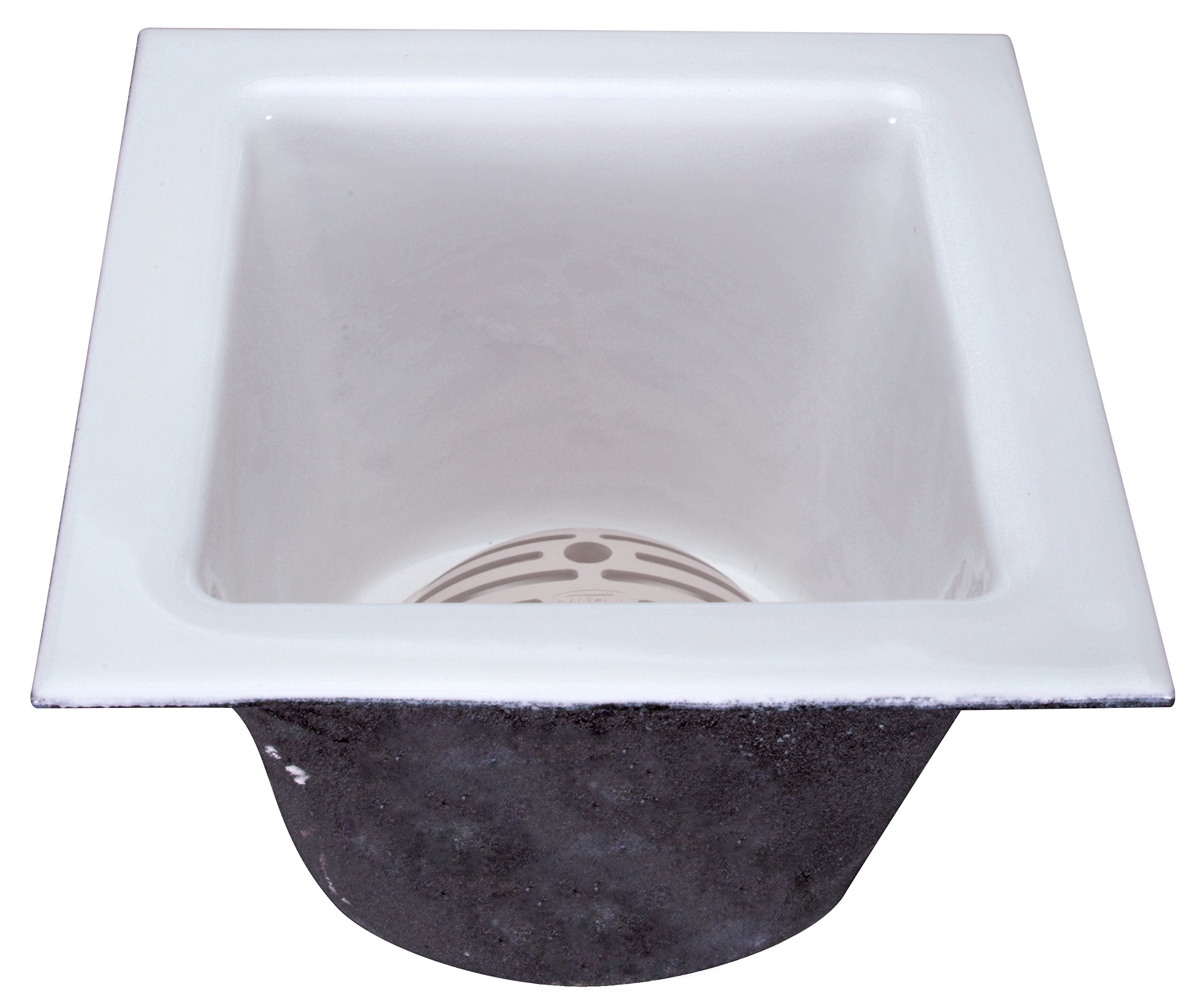 Zurn FD2376-NH3 A.R.C. Floor Sink, 8'' Sump Depth, 3'' No-Hub Connection, 12'' x 12''