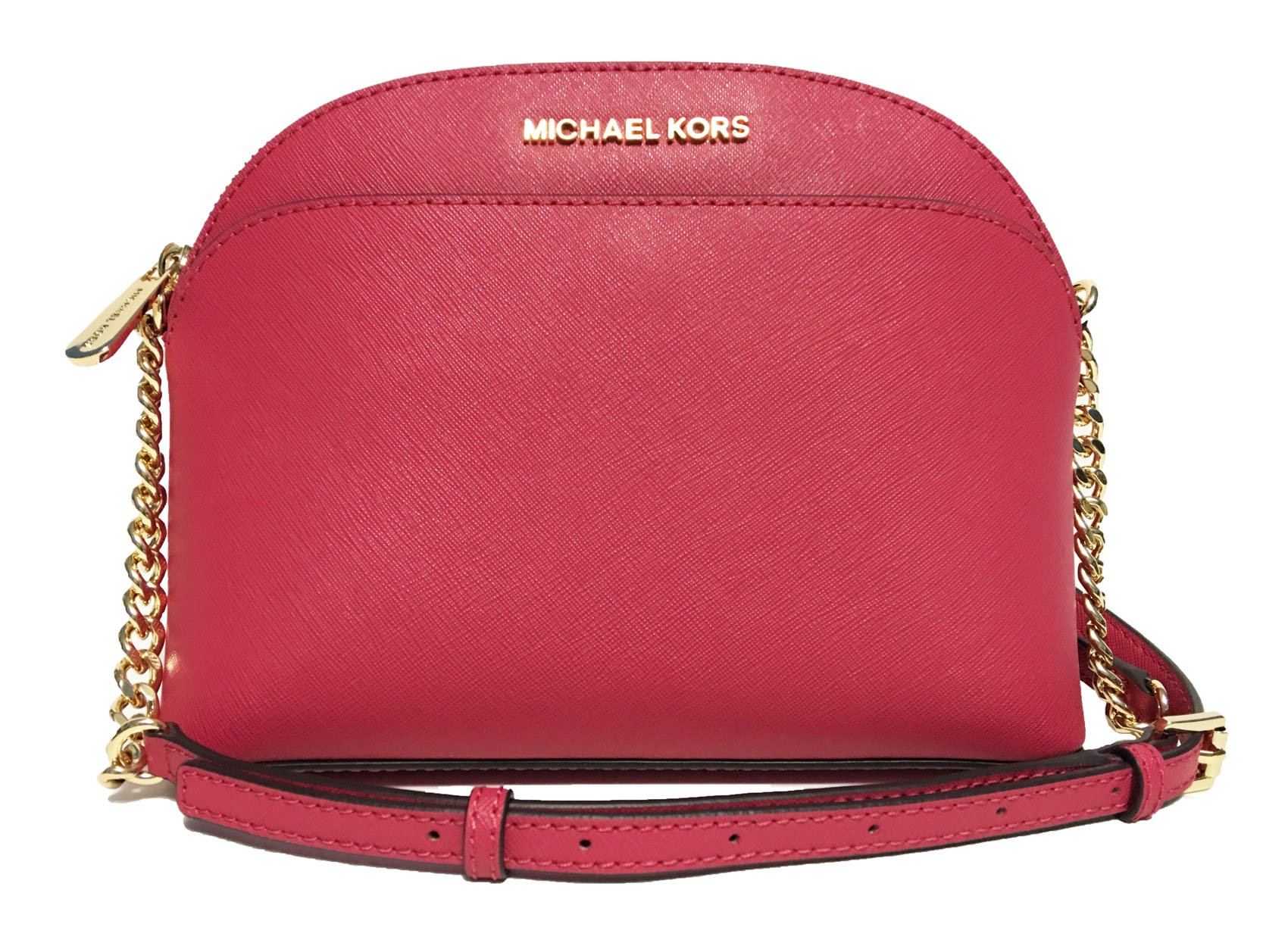 Michael Kors Emmy Medium Crossbody (Lipstick) by Michael Kors