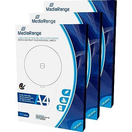MediaRange mrink132 etiquetas para cd|dvd|bd - 15 - 118 mm ...