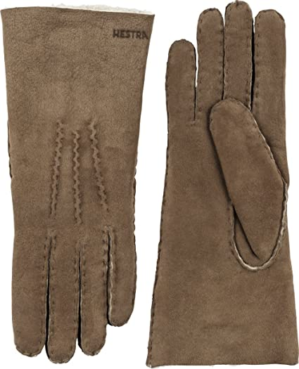 c00eac436 Amazon.com: Hestra Leather Gloves for Women: Sheepskin Cold Weather Winter  Glove: Clothing